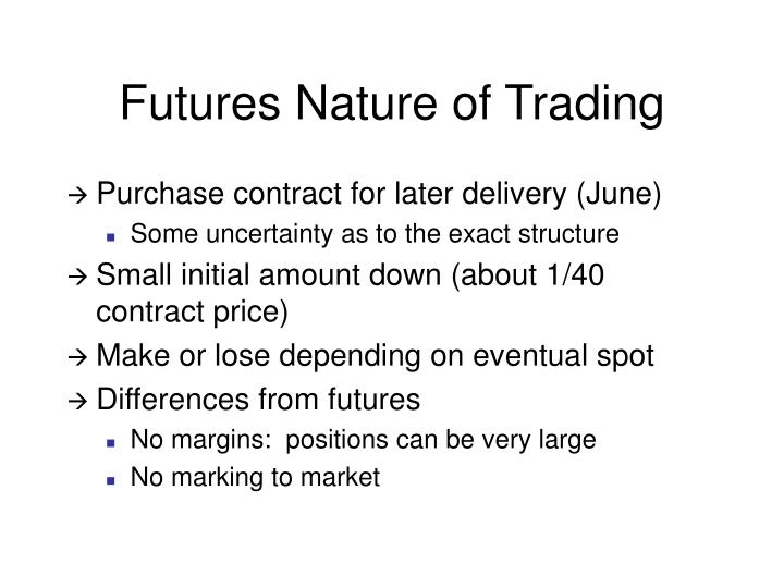 Futures Nature of Trading