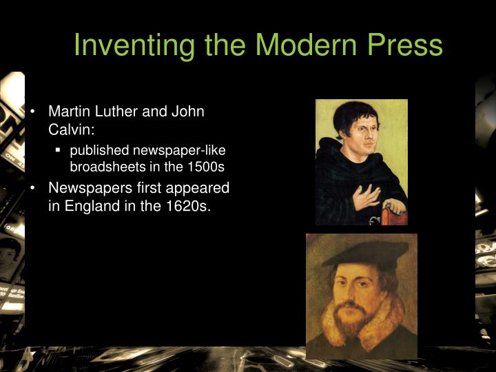 Inventing the Modern Press
