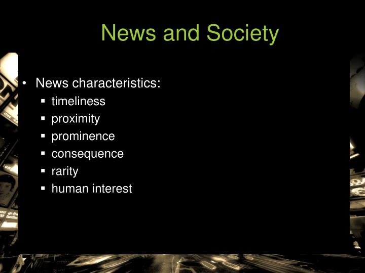 News and Society
