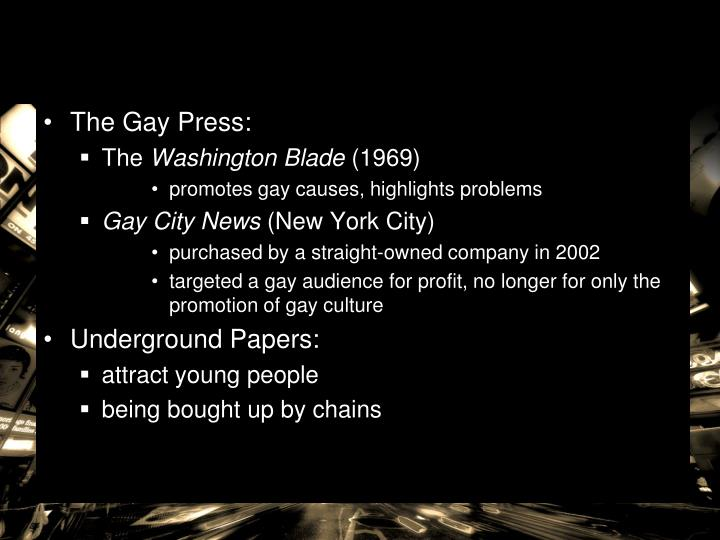 The Gay Press: