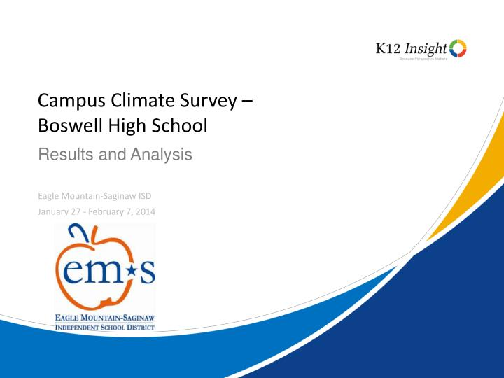 Campus climate survey boswell high school