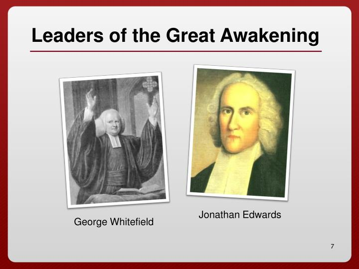 Leaders of the Great Awakening