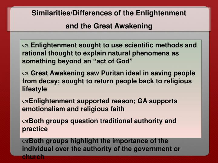 Similarities/Differences of the Enlightenment
