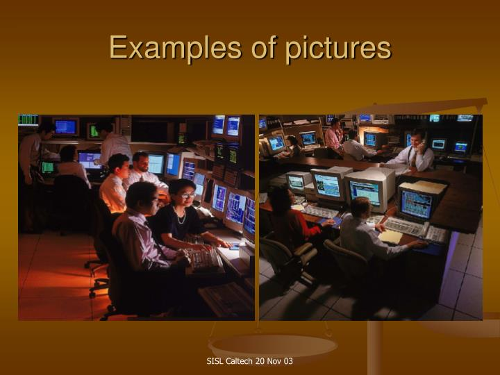 Examples of pictures