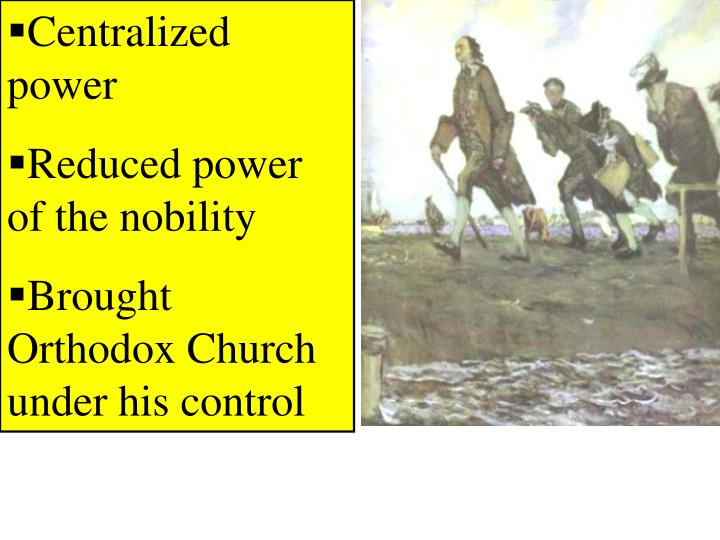 Centralized power