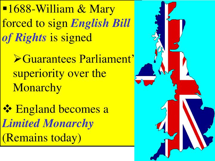 1688-William & Mary forced to sign