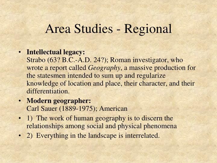 Area Studies - Regional