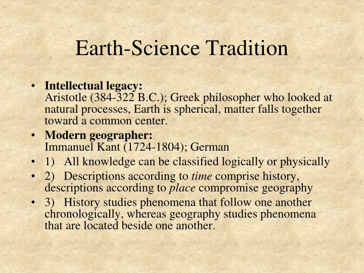 Earth-Science Tradition