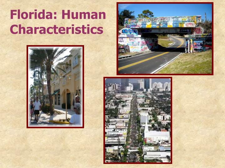 Florida: Human Characteristics