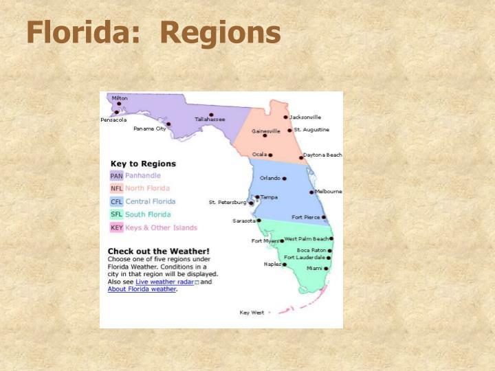 Florida:  Regions