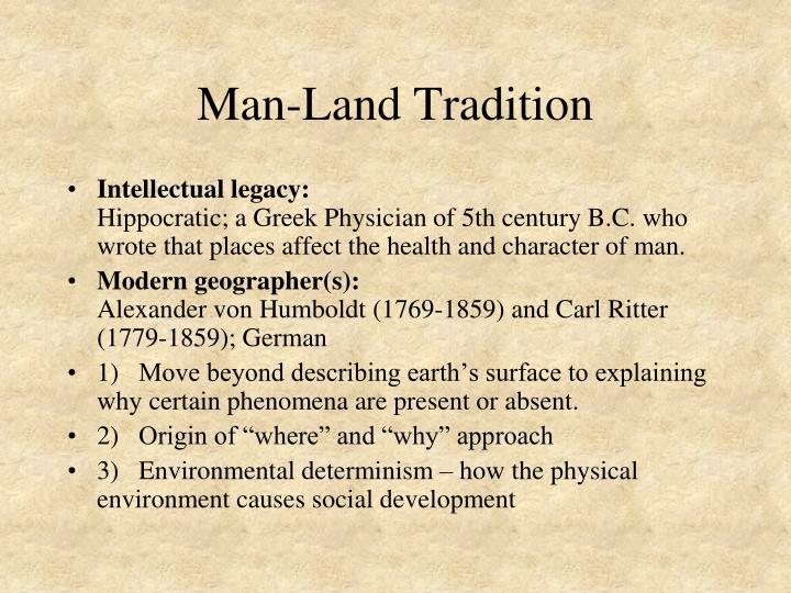 Man-Land Tradition