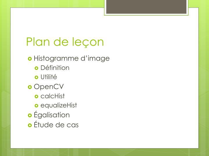 Plan de leçon