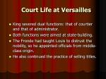 court life at versailles