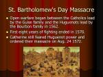 st bartholomew s day massacre