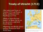 treaty of utrecht 1713
