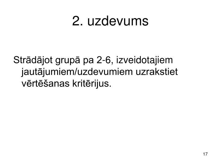 2. uzdevums