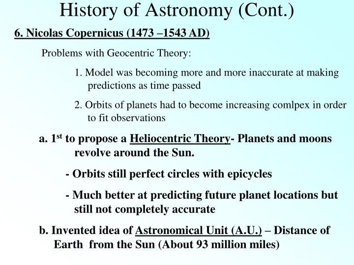 6. Nicolas Copernicus (1473 –1543 AD)