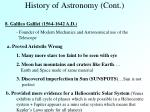 history of astronomy cont4