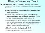 history of astronomy cont9