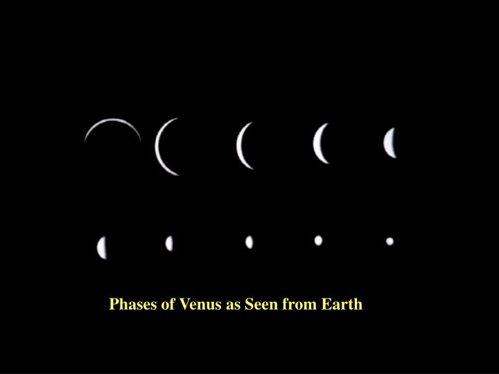 Phases of Venus as Seen from Earth