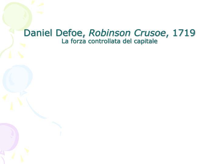 Daniel Defoe,