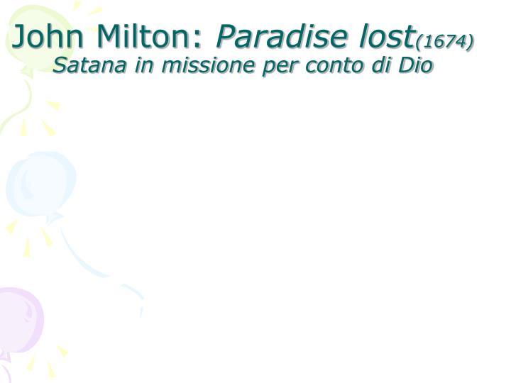 John Milton: