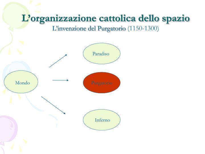 L'organizzazione cattolica dello spazio