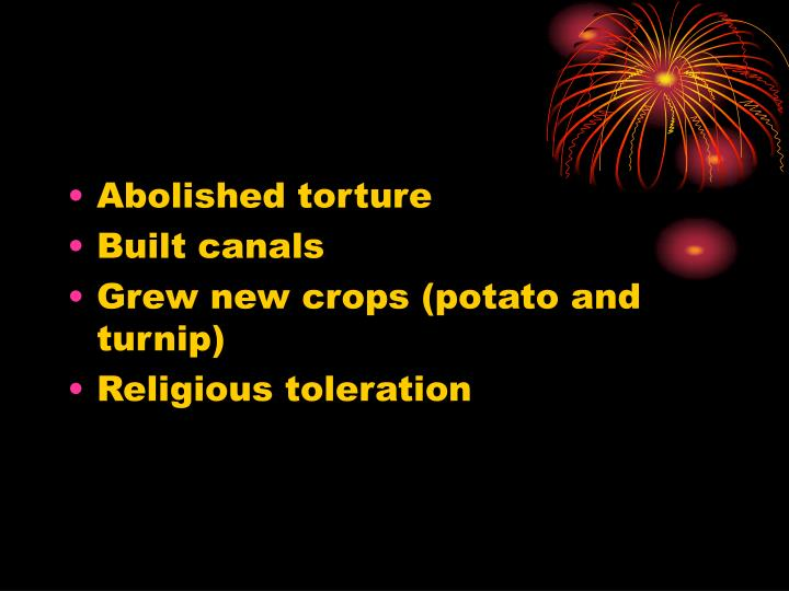 Abolished torture