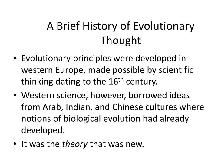 A Brief History of Evolutionary Thought