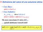definizione del valore di una soluzione ottima3