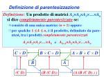 definizione di parentesizzazione1