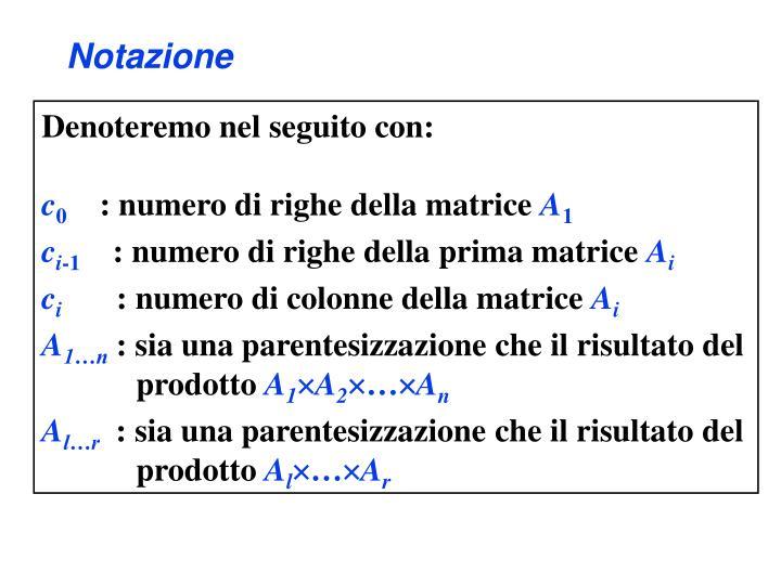 Notazione