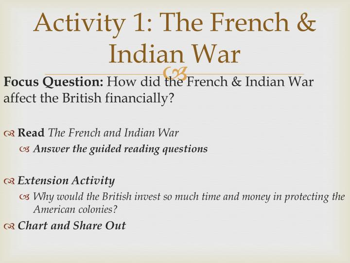 Activity 1: The French & Indian War