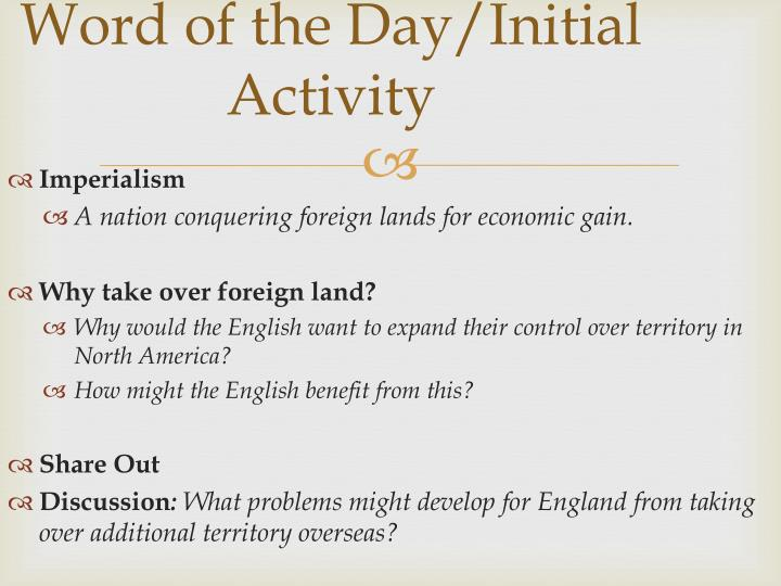 Word of the day initial activity