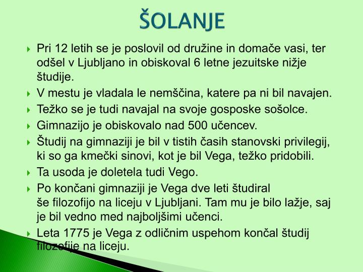 ŠOLANJE
