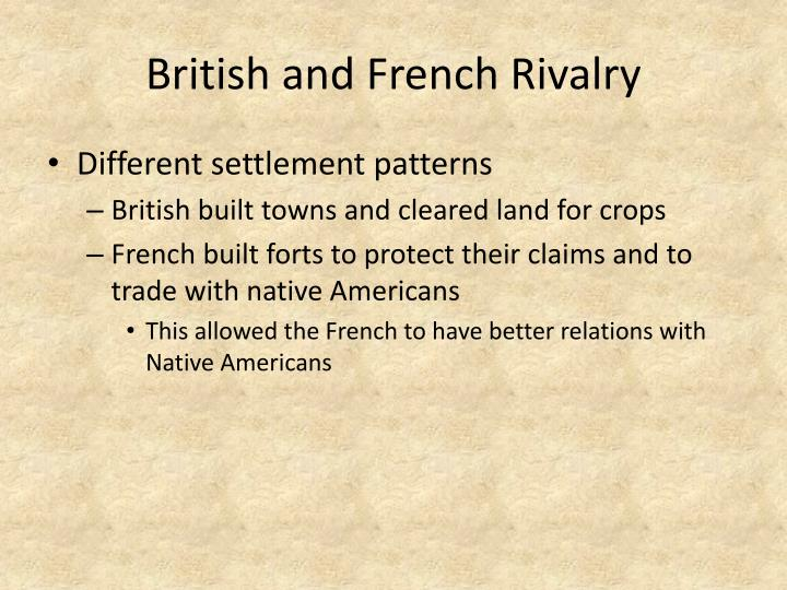 British and French Rivalry