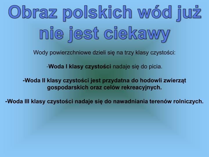 Obraz polskich wód już nie