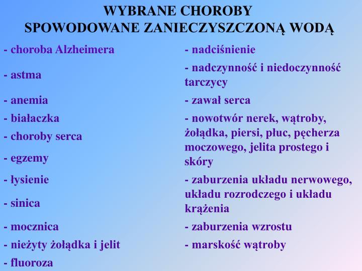 WYBRANE CHOROBY