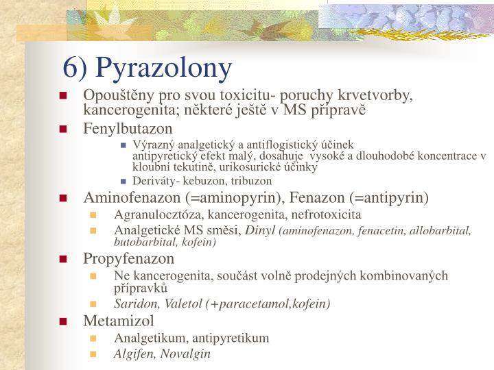 6) Pyrazolony