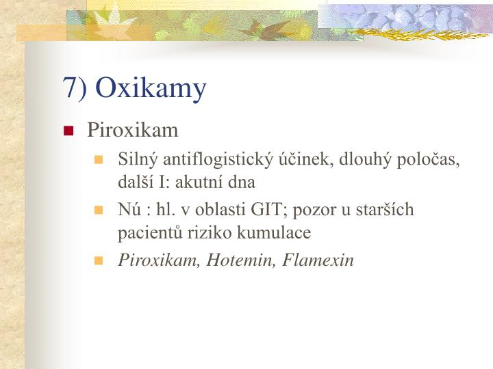 7) Oxikamy
