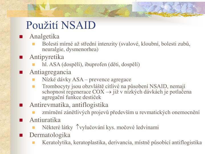 Použití NSAID
