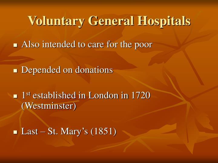 Voluntary General Hospitals