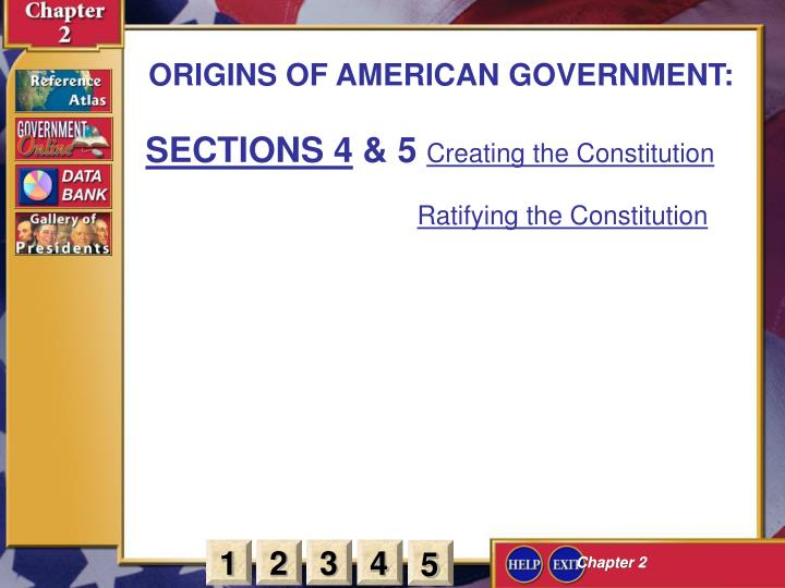 ORIGINS OF AMERICAN GOVERNMENT: