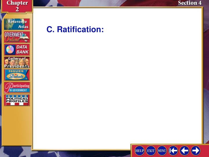 C. Ratification: