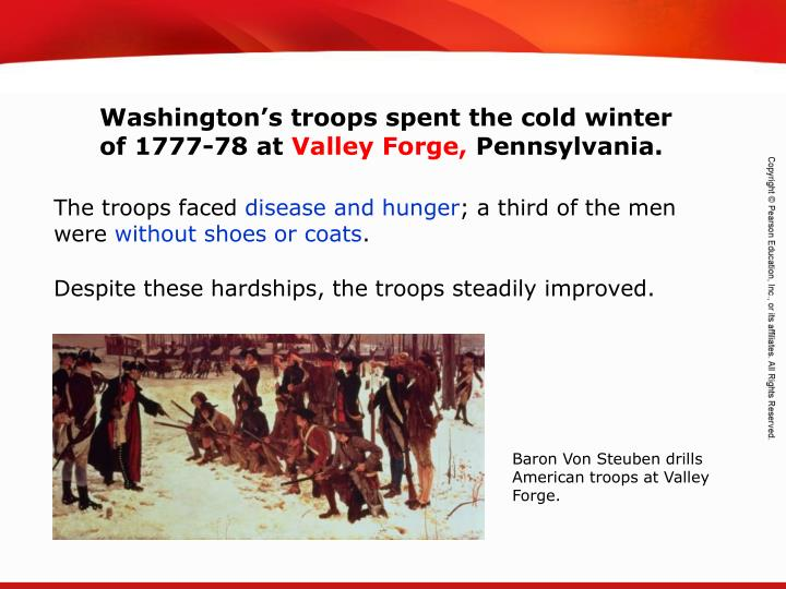 Washington's troops spent the cold winter of 1777-78 at