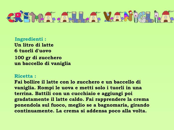 Ingredienti :