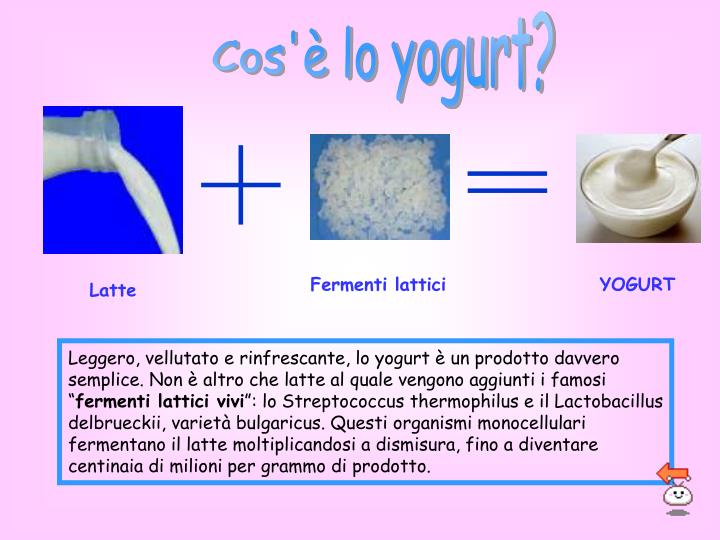 Cos'è lo yogurt?