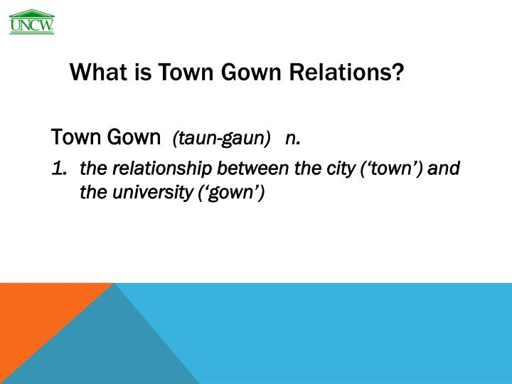 What is town gown relations