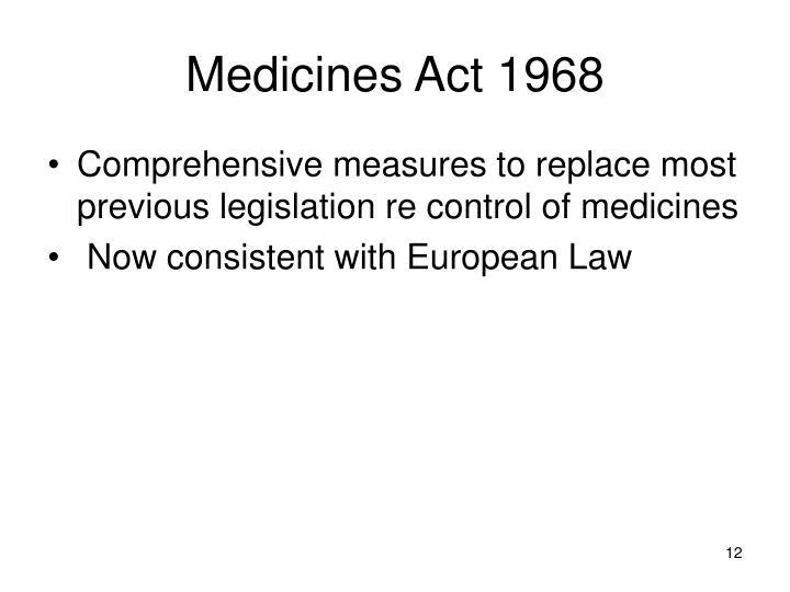 Medicines Act 1968