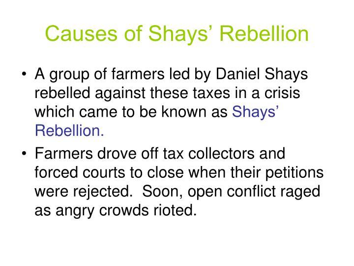 Causes of Shays' Rebellion
